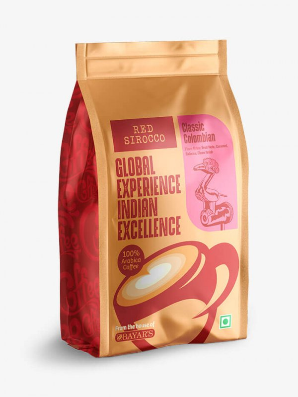Red Sirocco Classic Colombian Coffee Side 1