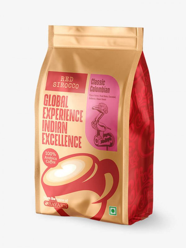 Red Sirocco Classic Colombian Coffee Side 2