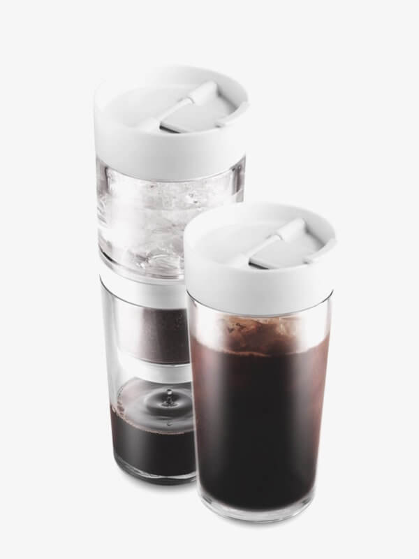 Dripo all in one ice drip coffee maker with built in mug